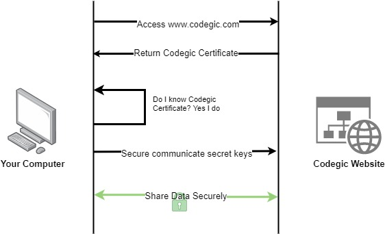 Securing communication channel with PKI